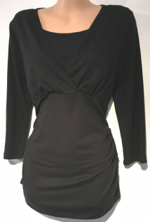 BLOOMING MARVELLOUS BLACK 3/4 SLEEVE TUNIC TOP SIZE M 12